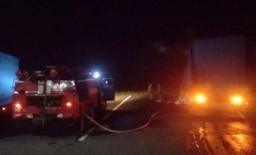 На Днепропетровщине загорелся грузовик с углем