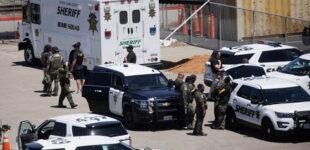 В США забили кирпичами мужчину, стрелявшего по людям