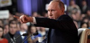 Путин заявил об угрозе для РФ от присутствия НАТО в Украине